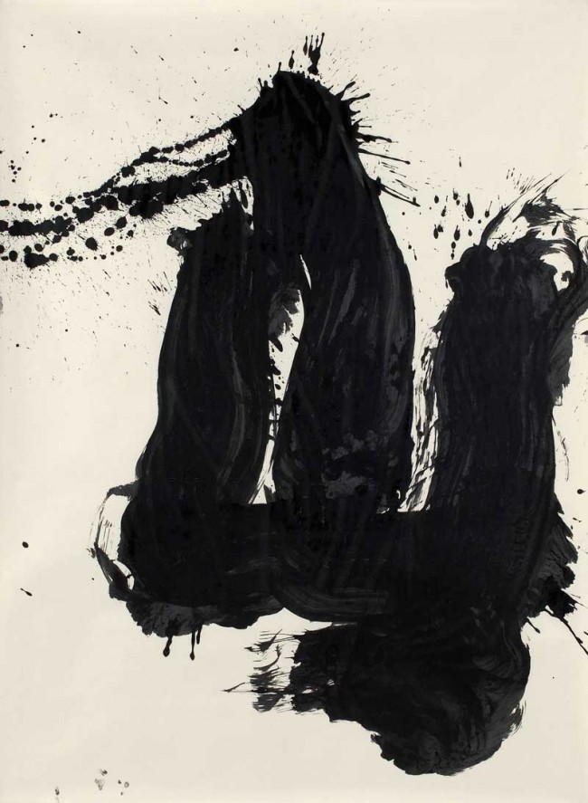 Inoue Yûichi »Yama (Berg)«   1966, Tusche auf Papier, 199 × 146 cm