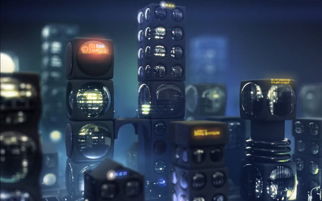 Ausschnitt Showreel | Das Showreel spielt in 3 Welten: In einer gezeichneten/gekneteten illustrativen Welt, in einer 3D Effektwelt und in einer mathematisch illustrativen Welt