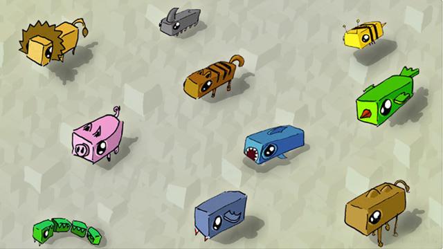 Quadrattiere | Entwürfe für eckige Tiere