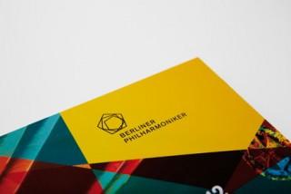 Das Logo der Berliner Philharmoniker prangt ab sofort auf gelbem Untergrund