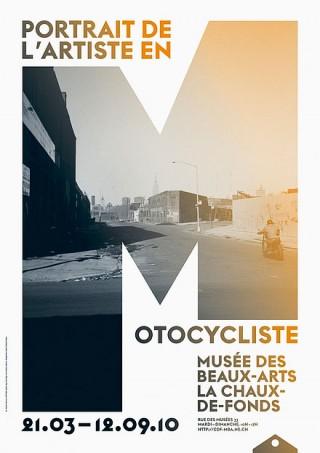 Titel: Portrait de l'Artiste en Motocycliste | Auftraggeber: Musée des Beaux-Arts, La Chaux-de-Fonds | Gestalter: onlab: Thibaud Tissot