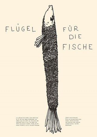 Titel: Flügel für die Fische   Auftraggeber: Eigenauftrag   Gestalter: Eva-Maria Offermann