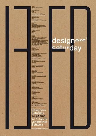 Titel: Designers' Saturday, 13. Edition 2010 | Auftraggeber: D'S Design Center AG, Designers' Saturday, Langentha | Gestalter: P'INC. AG