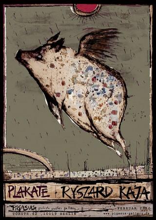 Titel: Plakate – Ryszard Kaja   Auftraggeber: PIGASUS polish poster gallery, Berlin   Gestalter: Ryszard Kaja