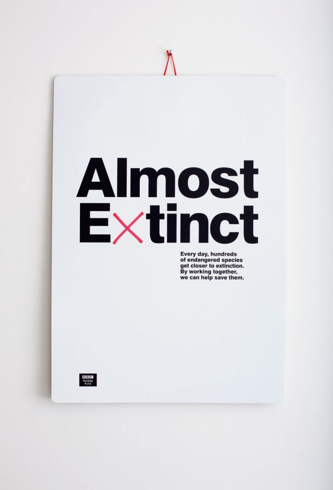 Almost Extinct - Die Designer von The Chase Creative Consultants werden für das Grafikdesign ihres BBC Wildlife Fund-Kalenders in der Kategorie »Calendars« prämiert