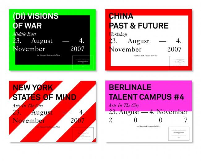 Wettbewerb zur Kampagne »Haus der Kulturen der Welt«, entstanden bei Studio Lambl, 2007