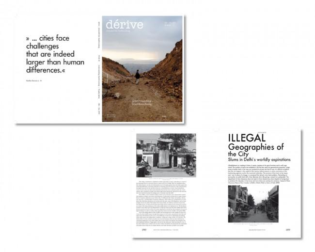 Re-Design/Art Direction: dérive – Zeitschrift für Stadtforschung, seit 2010