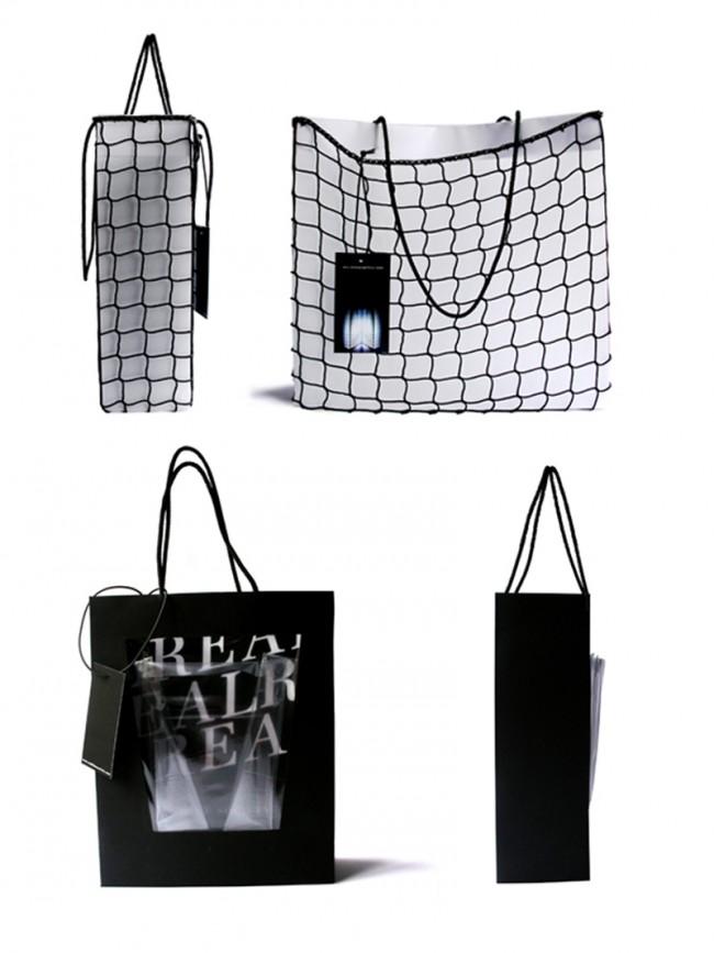 SHOPPING BAG // PACKAGING DESIGN: Entwürfe und Design für eine neue Einkaufstasche der »Real Time Society«, Zürich.  Style & Design, Zürcher Hochschule der Künste, Zürich, Schweiz, 2008.