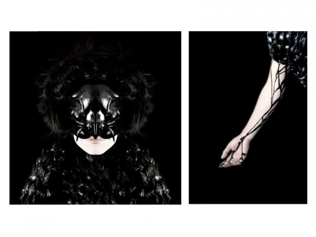 OILBIRD // PHOTOGRAPHY & STYLING: Das »Oilbird« Projekt wurde in dem Kurs »Unwearable attitudes« an der ZHDK, Zürich realisiert. »Oilbird« ist ein skulpturales Material-Körper-Experiment. Es wurde versucht, die Idee der ölverschmierten Vögel in einen neuen Themenzusammenhang zu heben. | Style & Design, Zürcher Hochschule der Künste, Zürich, Switzerland, 2008.