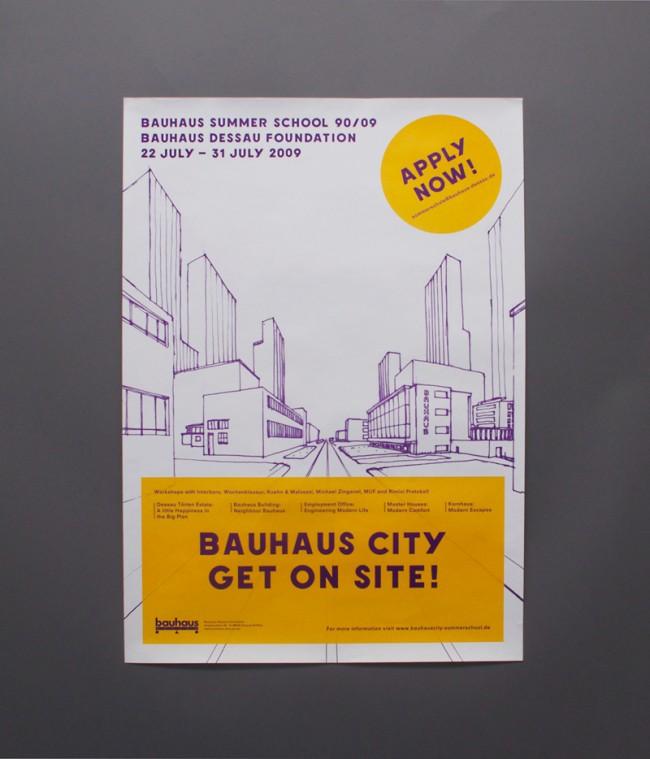 Plakat, Bauhaus Summer School 90/09