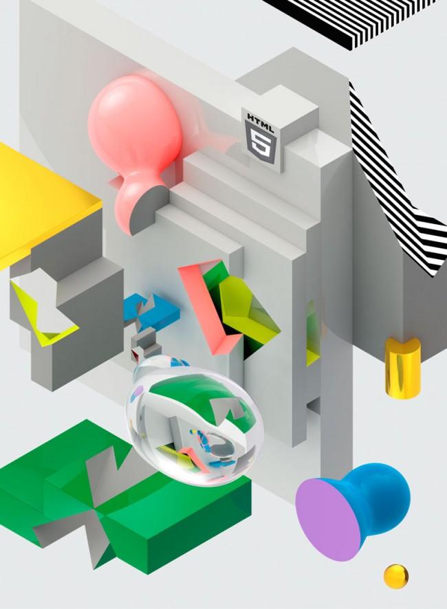 Illustration HTML5 »Computer Arts Magazine«