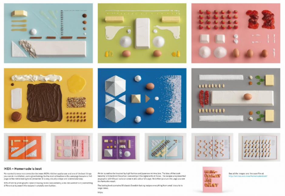 Type of Entry: Graphic Design & Design Crafts; Category:Books;  Title:HOMEMADE IS BEST; Advertiser/Client:IKEA; Design/Advertising Agency:FORSMAN & BODENFORS Gothenburg, SWEDEN