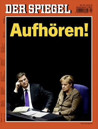 Aufhören!, Der Spiegel Nr. 24 Nominiert in der Kategorie Zeitschriften / Cover des Jahres