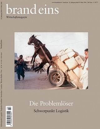 Schwerpunkt Logistik, Brand Eins Nr. 03 Nominiert in der Kategorie Zeitschriften / Cover des Jahres