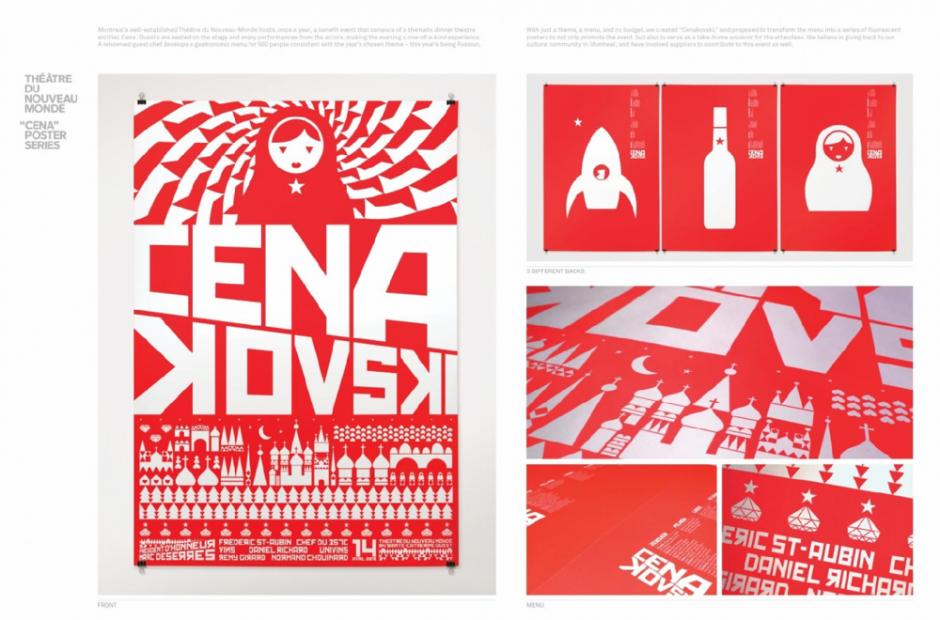 Type of Entry: Graphic Design & Design Crafts; Category: Posters; Title:CENAKOVSKI; Advertiser/Client: THÉÂTRE DU NOUVEAU MONDE; Design/Advertising Agency:COSSETTE Montreal, CANADA