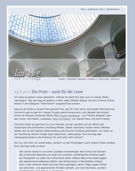 Bild Grimme Online Award 2011