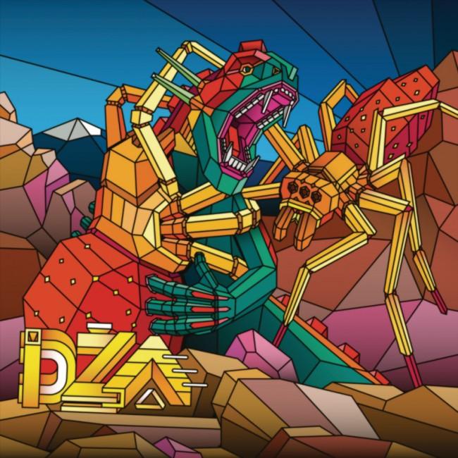 Aske, Sicksystems - Vinyl Cover für eine EP der russischen Elektroband DZA, 2011