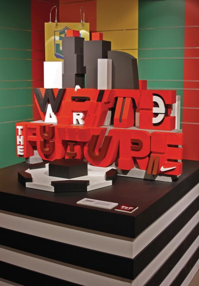 Aske, Sicksystems - Polystyrene-Skulptur für Nike, 2010