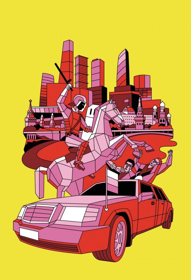 Aske, Sicksystems - Illustration für eine limitierte Edition von Stussy T-shirts, 2010