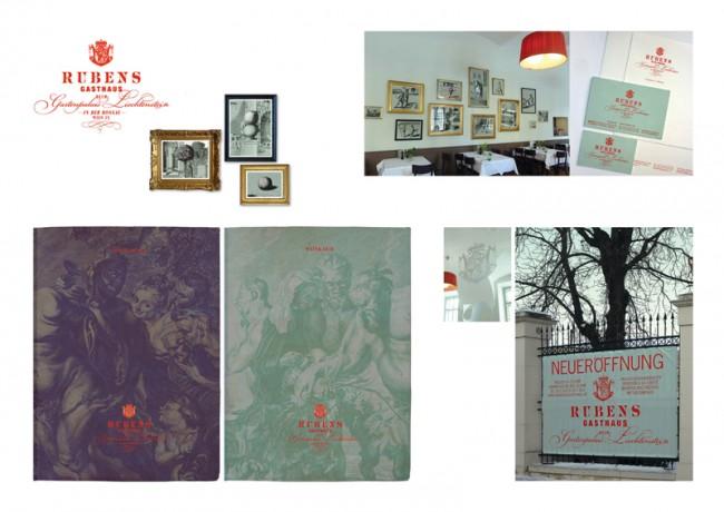 Corporate Design für »RUBENS Gasthaus«