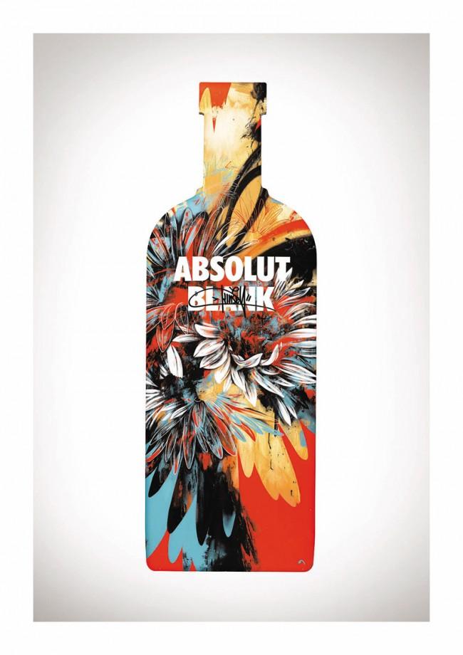 Kinsey ist ein Graffiti-Künstler aus Los Angeles – das ist seine Absolut Flasche