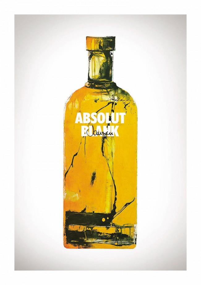 Der Künstler Marcus Jansen gab seiner Flasche einen gelben Anstrich