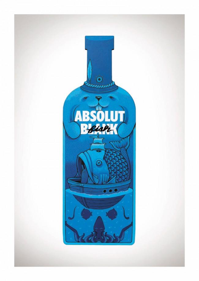 Die blaue Fisch-Flasche stammt von ... Jeremy Fish