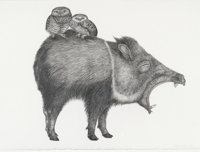 "It's always the same by and by, Graphite on paper, 11"" x 15"", 2008"