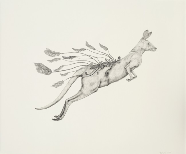 Spring time with ferns., Graphite on paper, 28 x 23 inches, 2007