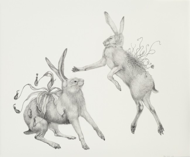 It's alright I'll come 'round when you're not in., Graphite on paper, 27 1/2 x 23 inches, 2007