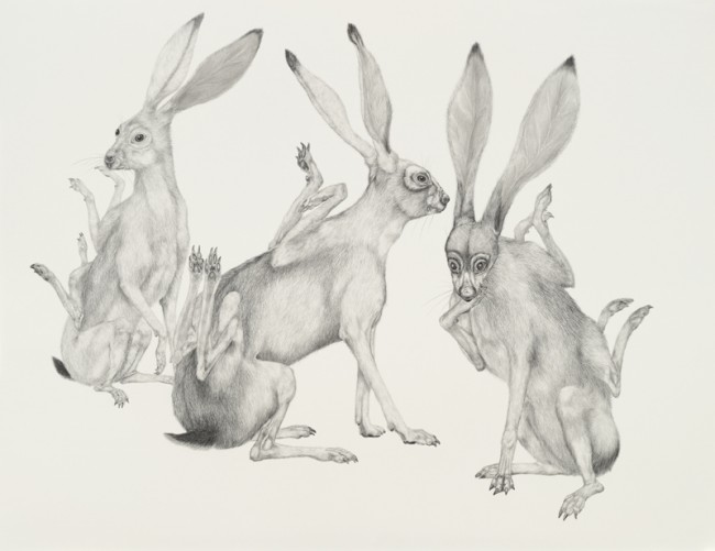 To Crixa with us and us and us., Graphite on paper, 38 x 30 inches, 2007