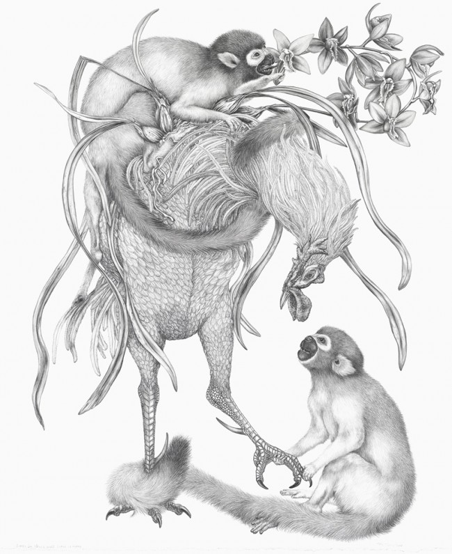 "Little Joe never once gave it away, Graphite on paper, 28"" x 23"", 2008"