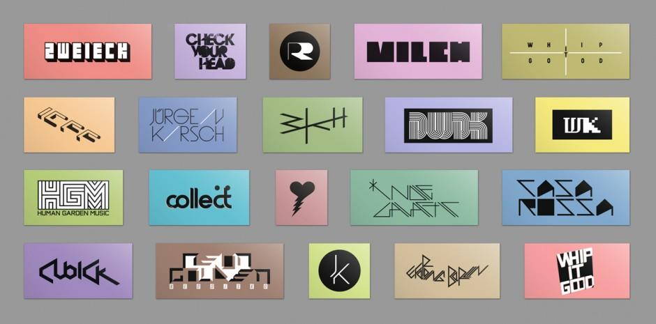 Verschiedene Logotypes