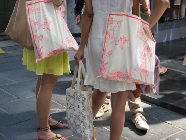 Taschen-Give-Aways sind der Renner auf der b&b