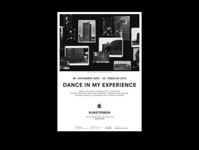 »DANCE IN MY EXPERIENCE« Plakat / Corporate Design für den Kunstverein Düsseldorf