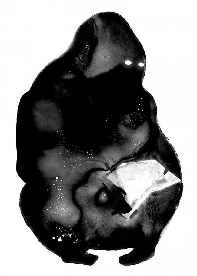 Illustration für Publikation und Plakat, Geduld und Gorillas, Niggli Verlag, 2009, Zusammen mit Lars Egert