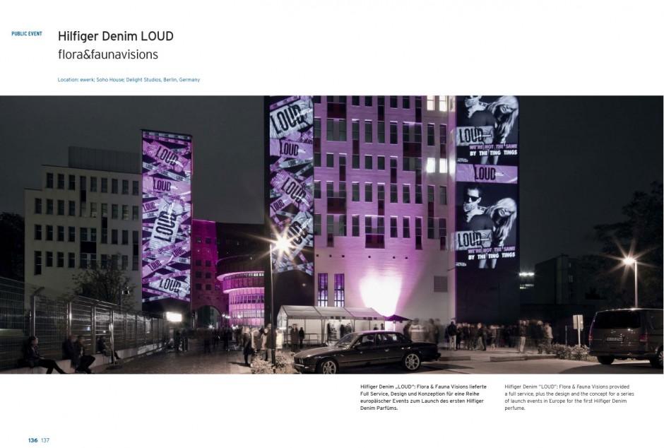 Inszenierung des ersten Hilfiger Denim Parfums LOUD im Soho House Berlin