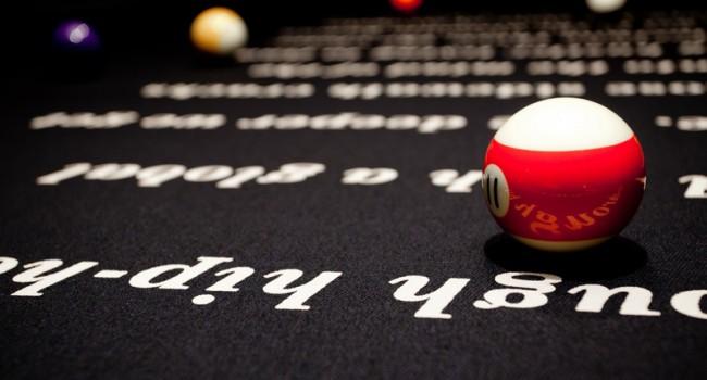 Billiardtisch im 40/40 Club, der Jay-Z gehört