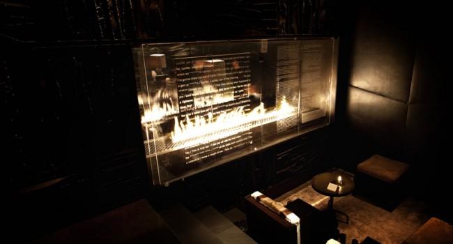 Der Songtext von »Lucifer« stand an einem Kamin im Royalton Hotel, New York