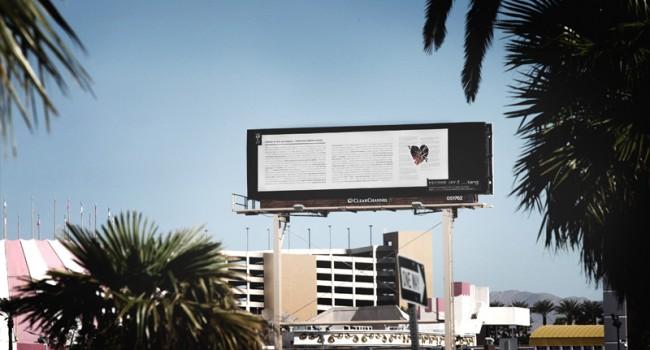 Plakat in Las Vegas
