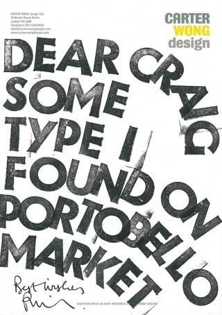 Brief von Carter Wong Design
