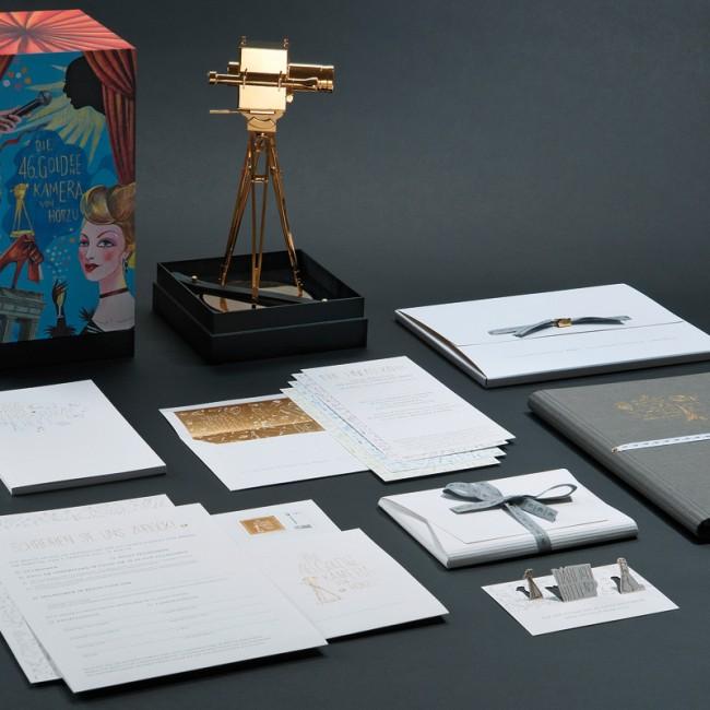 Die gesamten Elemente des Designs für die »46. Goldene Kamera«
