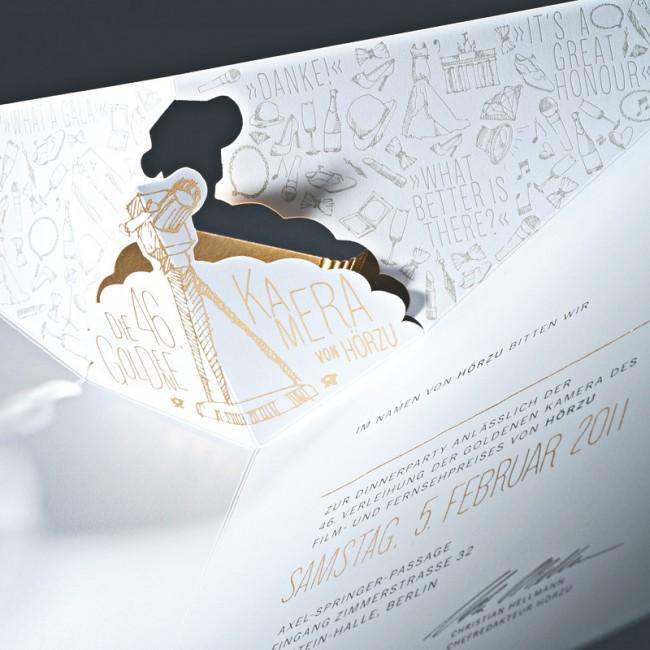 Die Einladung bestand aus einer Pop-Up-Karte