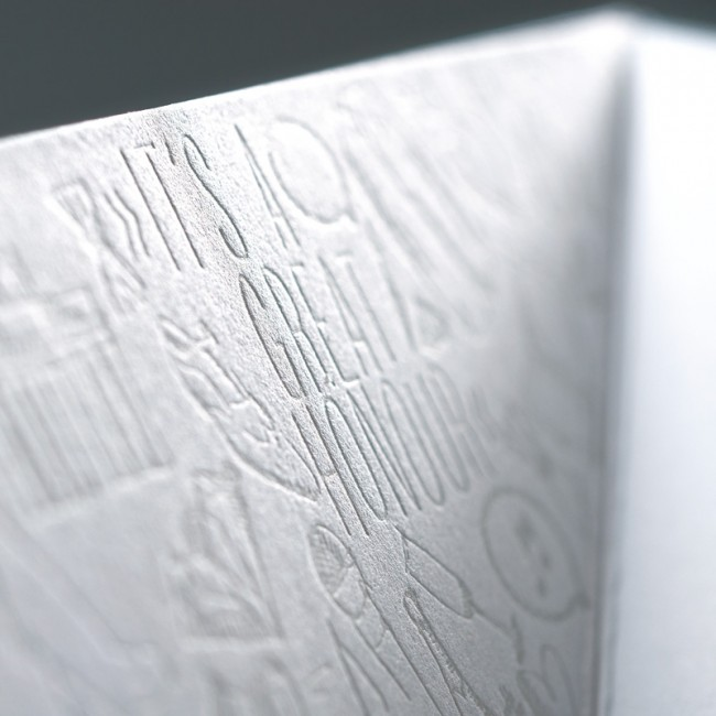 Die Texte waren im Buchdruck gedruckt