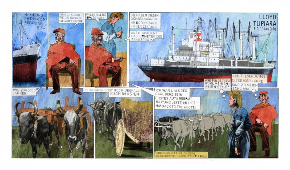 Comic: Ochsenkarren Ansicht