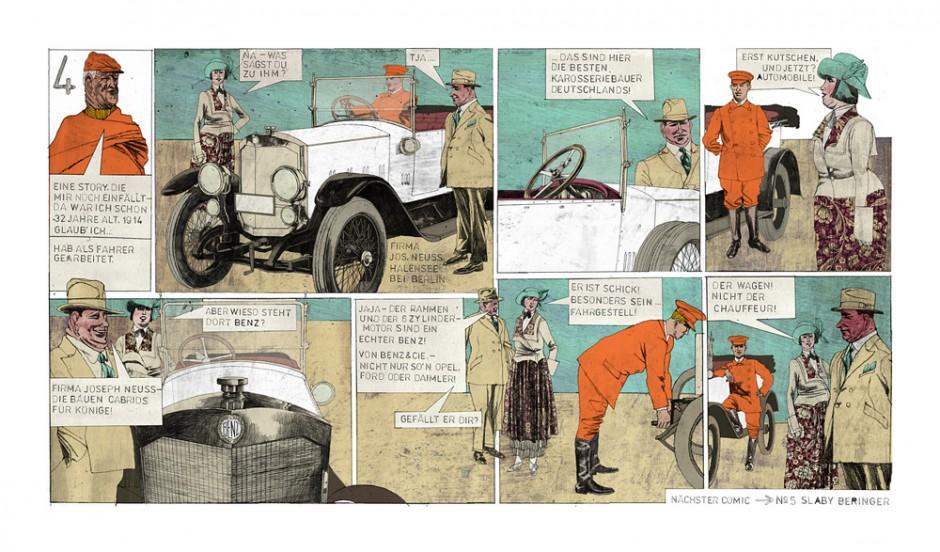 Comic: Mercedes-Benz Torpedo Ansicht