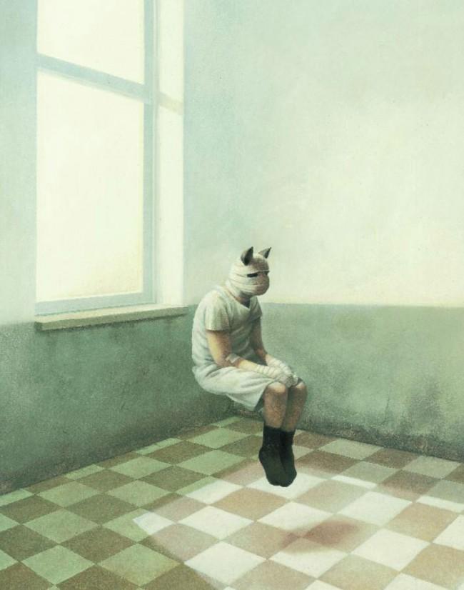 Carl Norac / Stéphane Poulin: Im Land der verlorenen Erinnerung. Berlin (Verlag Jacoby & Stuart) 2011, 128 Seiten. 24 Euro. ISBN 987-3-941787-49-0