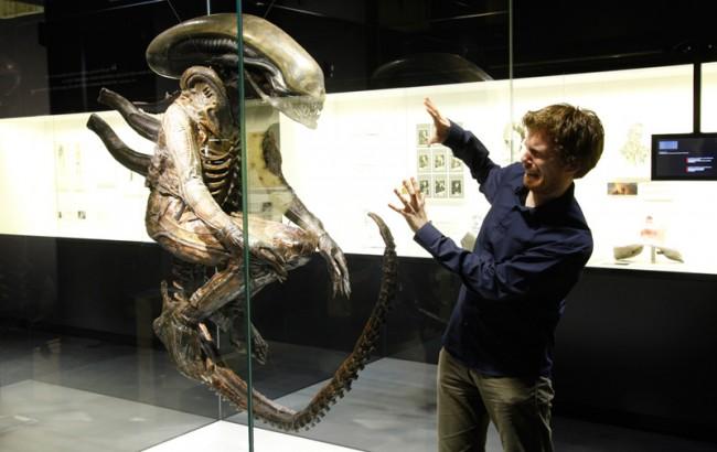 Ein Highlight unter den Exponaten: der Alien aus dem gleichnamigen Film