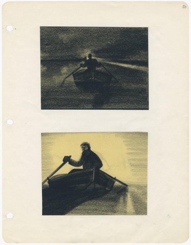 MAN HUNT Menschenjagd (Fritz Lang, USA 1941), Storyboard: Wiard Ihnen Graphit auf Papier, Leihgeber: Collection Cinémathèque française, Fonds Fritz Lang, Paris