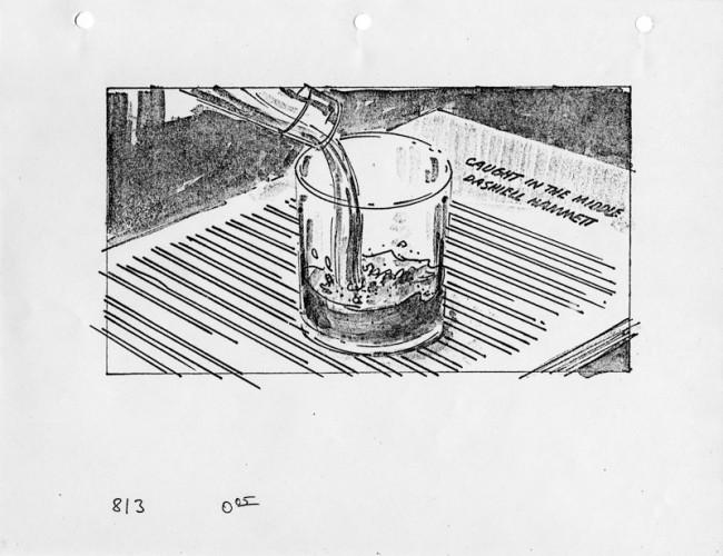 HAMMETT | Wim Wenders (USA 1982), Storyboard: Alex Tavoularis zugeschrieben Eröffnungsszene, Leihgeber: Deutsche Kinemathek – Sammlung Wenders